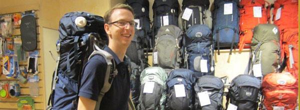 Rucksack packen